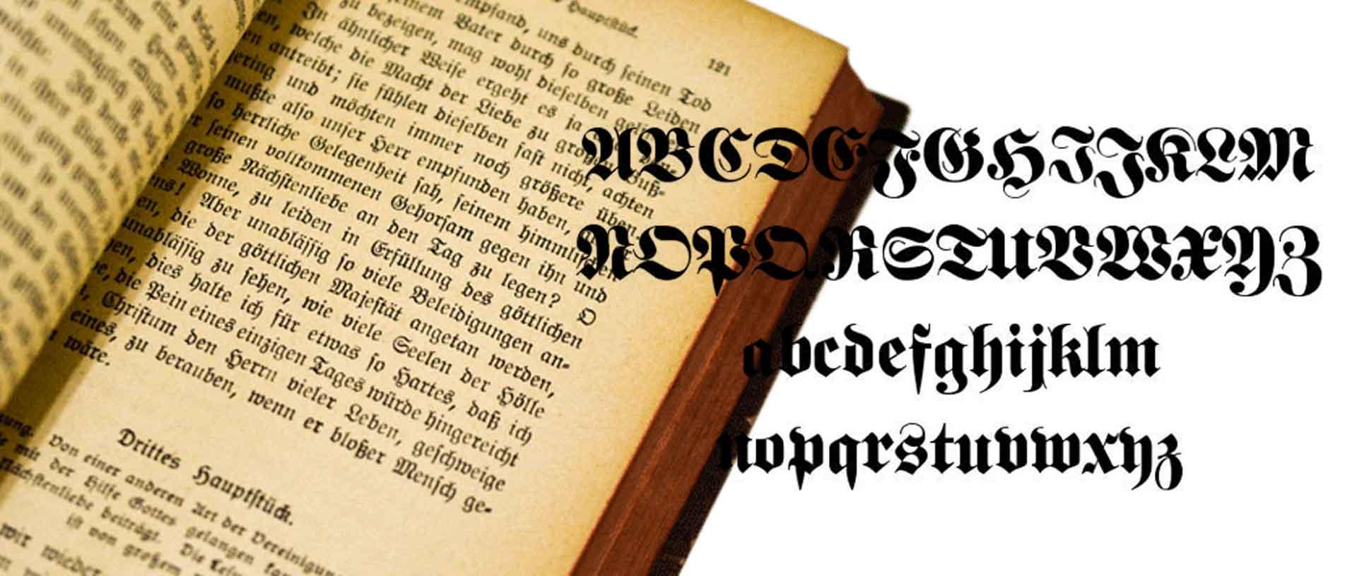 買取可能なフラクトゥール文字の洋書